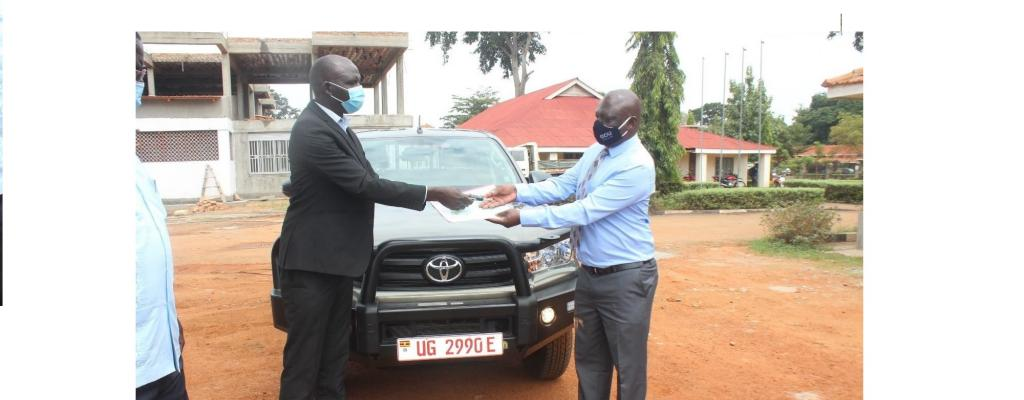 Hand over of new vehicle to the Education Department